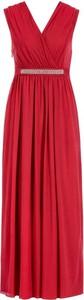 Czerwona sukienka Pennyblack z dekoltem w kształcie litery v bez rękawów