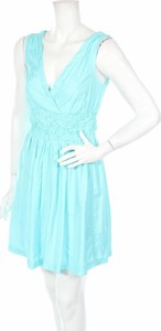 Niebieska sukienka Only mini bez rękawów