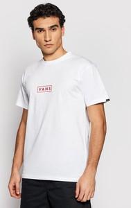 T-shirt Vans z bawełny w stylu casual z krótkim rękawem