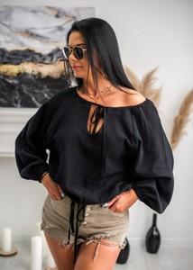 Bluzka Fason z okrągłym dekoltem z długim rękawem z jeansu