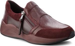 Czerwone buty sportowe Geox ze skóry ekologicznej w stylu casual