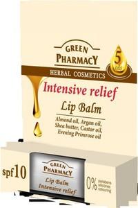 Green Pharmacy Lip Balm balsam do ust Intensive Relief 1 szt.