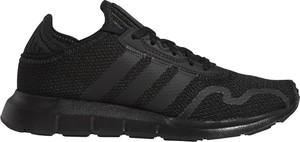 Czarne buty sportowe dziecięce Adidas sznurowane