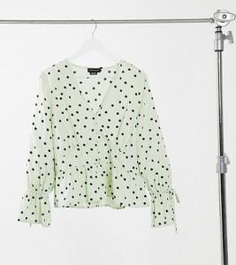 Zielona bluzka Wednesday`s Girl Curve z długim rękawem