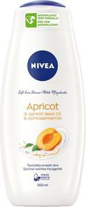 Nivea, Soft Care Shower, żel pod prysznic, Apricot, 500 ml