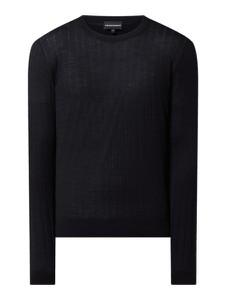 Granatowy sweter Emporio Armani w stylu casual z wełny
