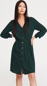 Turkusowa sukienka Reserved w stylu casual