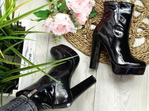 Czarne botki sklep-szpilka24 w stylu glamour