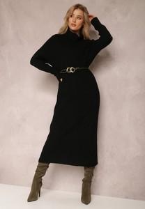 Sukienka Renee prosta w stylu casual z długim rękawem