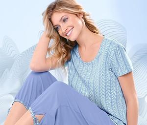 Niebieska piżama Tchibo w stylu casual