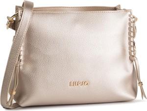 Złota torebka Liu-Jo na ramię średnia lakierowana