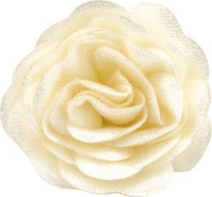 Em Men`s Accessories Wpinka do butonierki beżowy ivory kwiat EM 6