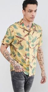 Żółta koszula AllSaints z krótkim rękawem