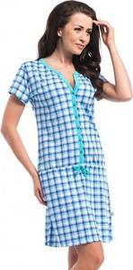 Turkusowa koszula Dn w stylu casual z bawełny