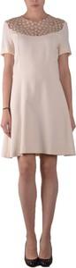Sukienka Pinko z krótkim rękawem z okrągłym dekoltem