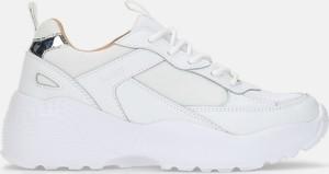 Buty sportowe Kazar z płaską podeszwą ze skóry sznurowane