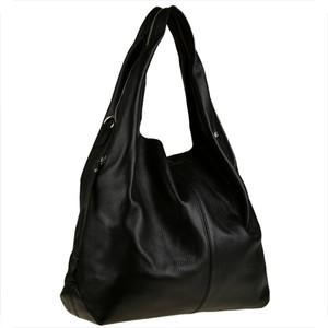 Czarna torebka Borse in Pelle w stylu glamour duża
