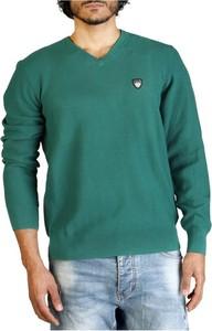 Zielony sweter Emporio Armani z bawełny