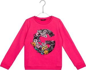 Różowa bluza dziecięca Guess