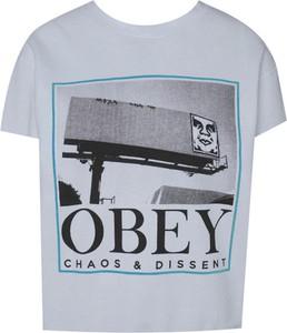 T-shirt Obey z bawełny z krótkim rękawem