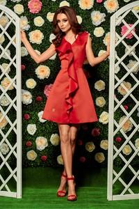 Czerwona sukienka Lemoniade z dekoltem w kształcie litery v bez rękawów