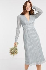 Sukienka Tfnc z długim rękawem z dekoltem w kształcie litery v