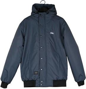 Niebieska kurtka Elade z tkaniny w stylu casual krótka