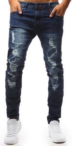 Niebieskie jeansy Dstreet z jeansu w młodzieżowym stylu