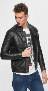Czarna kurtka Selected w stylu casual krótka z bawełny