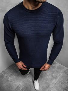 Granatowy sweter Ozonee