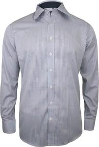 Granatowa koszula Chiao z bawełny z długim rękawem