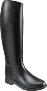 Czarne kalosze Fouganza w stylu casual z płaską podeszwą