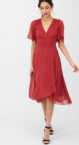 Czerwona sukienka V by Very z krótkim rękawem