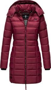 Czerwona kurtka Marikoo z kapturem w stylu casual