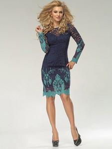 Sukienka Marselini z okrągłym dekoltem w stylu casual z bawełny