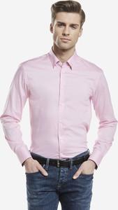 Różowa koszula Lambert z długim rękawem