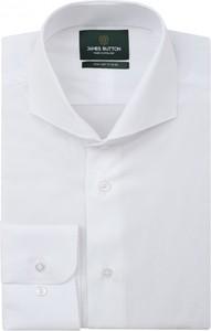 Koszula jamesbutton.com z bawełny z kołnierzykiem button down