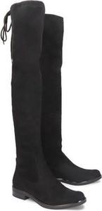Kozaki Caprice za kolano z płaską podeszwą w stylu casual