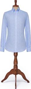 Niebieska koszula LANCERTO z kołnierzykiem button down