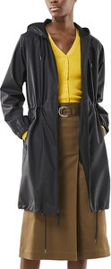 Czarny płaszcz Rains z tkaniny w stylu casual