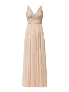 Sukienka Lace & Beads z tiulu z dekoltem w kształcie litery v na ramiączkach