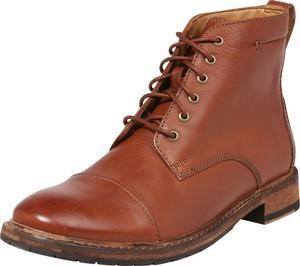 Buty zimowe Clarks sznurowane ze skóry