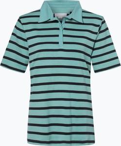Niebieski t-shirt brookshire z krótkim rękawem z dżerseju w stylu casual