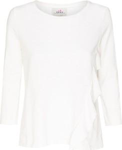 T-shirt Deha z długim rękawem z bawełny