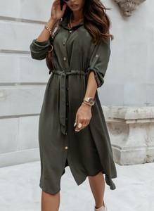 Zielona sukienka Cikelly maxi