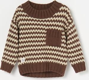 Brązowy sweter Reserved z wełny