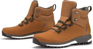 Brązowe buty zimowe Adidas sznurowane