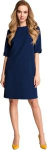 Sukienka Style mini z długim rękawem z tkaniny