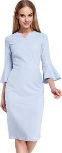 Błękitna sukienka MOE midi
