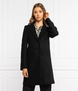 Czarny płaszcz Twinset z wełny w stylu casual